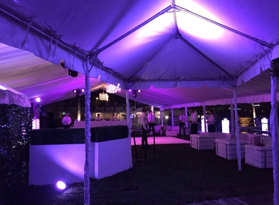 Outdoor party lighting rental event lighting rentals in miami outdoor lighting rental mozeypictures Images