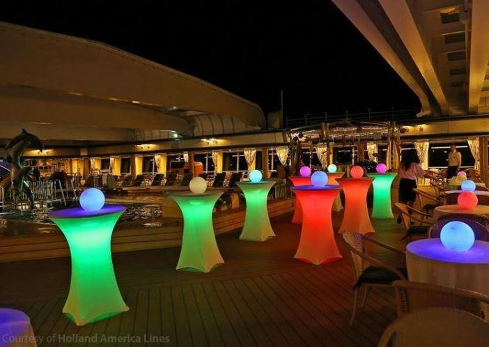LED Lights For Under Cocktail Tables