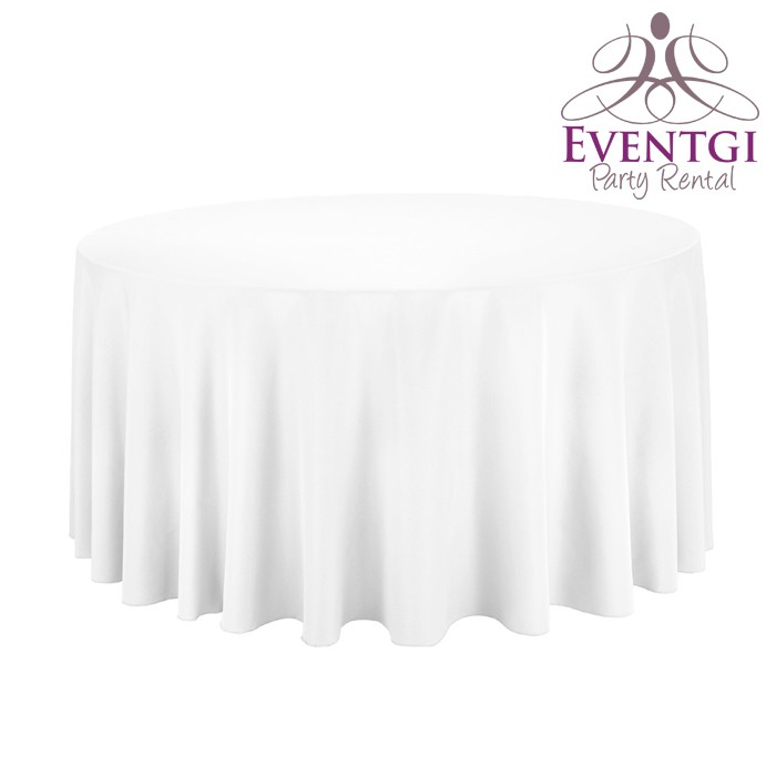 White Round Tablecloth For Rent In Miami Broward County Palm