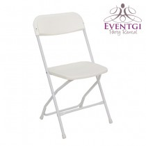 White Folding Chairs Rentals