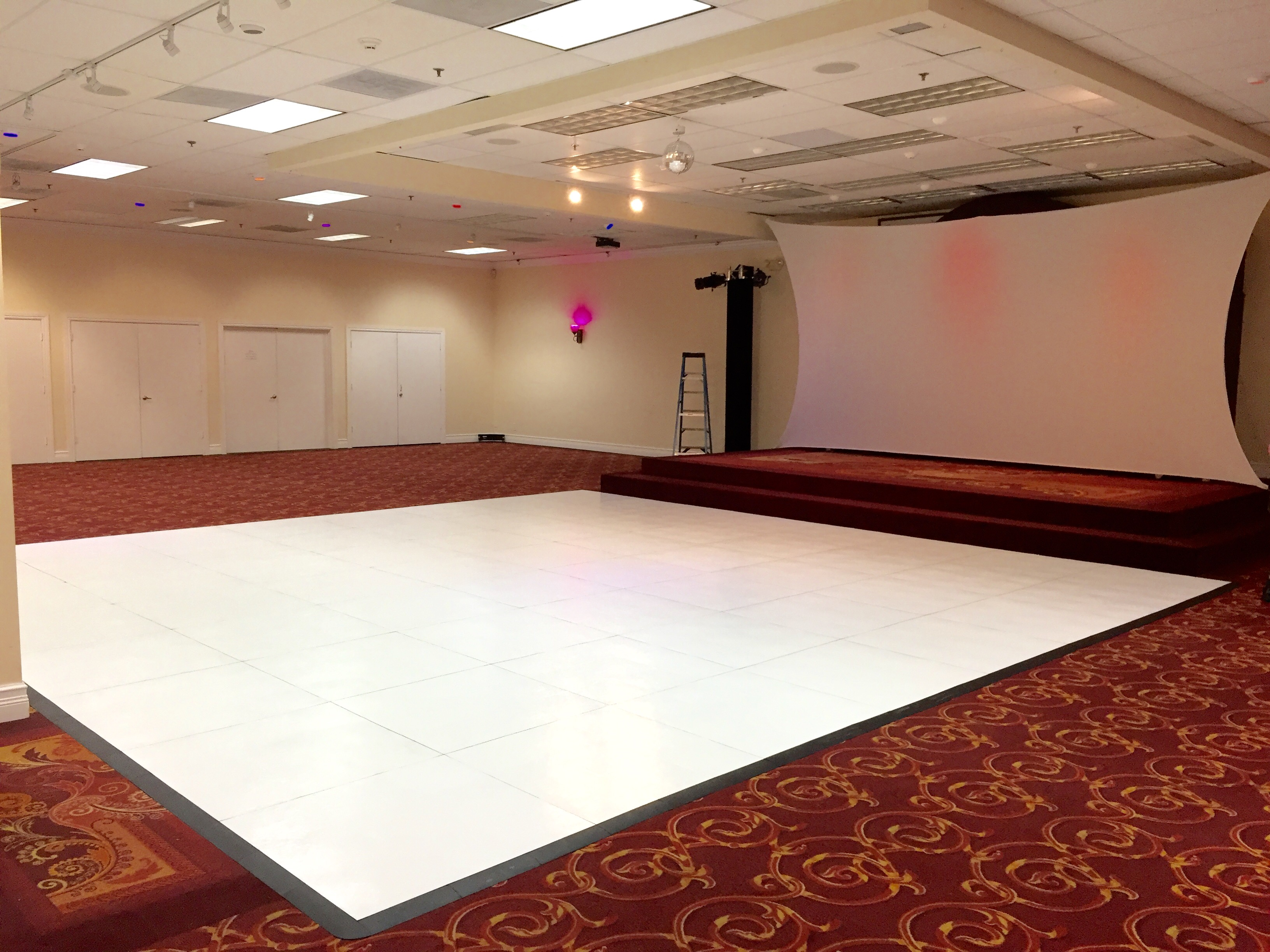 White Dance Floor Rental