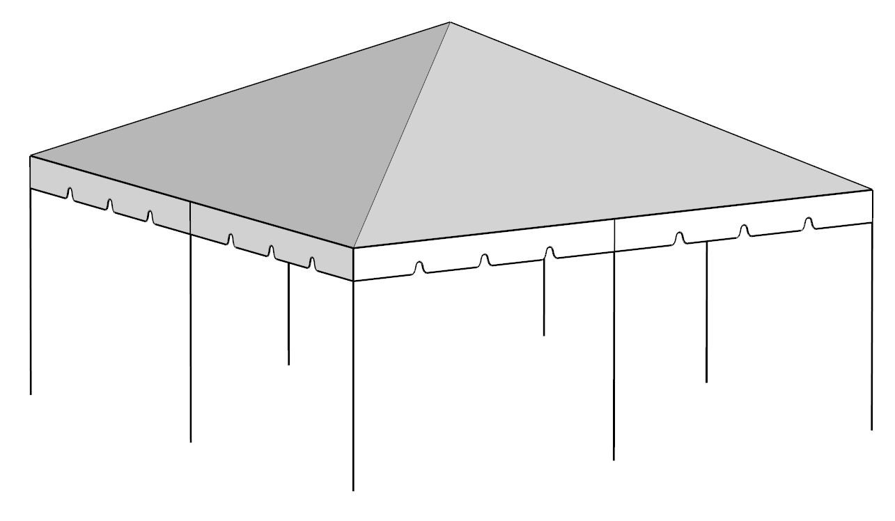 20x20 Tent Rentals Miami - Broward - Palm Beach - Florida