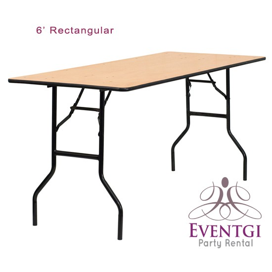 6ft Rectangular Tables Rental