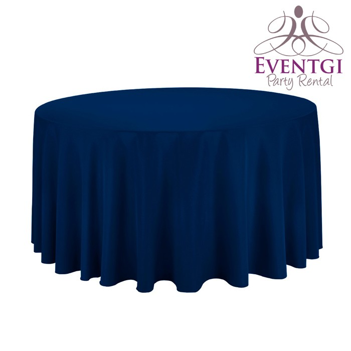 Navy Blue Table Linen Rentals