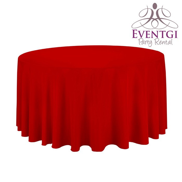 Red Table Linen Rentals