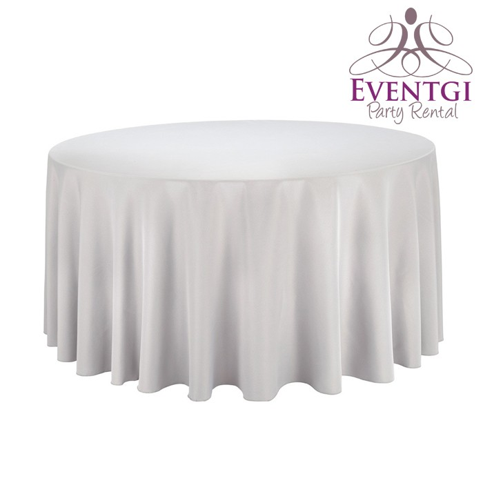 Silver Table Linen for Rent