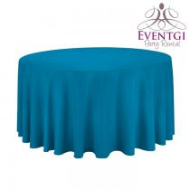 Aqua Blue Round Tablecloth 120 in