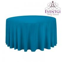 Aqua Blue Round Tablecloth 120 in