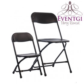 Black Folding Chairs Rentals