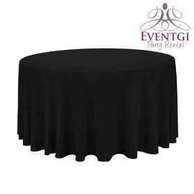 Black Round Tablecloth Rentals