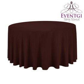 Brown Round Tablecloth Rentals