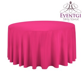 Fuchsia Round Tablecloth Rentals