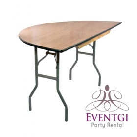 Half Round Table Rental