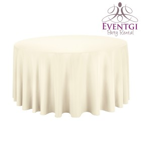 Ivory Round Tablecloth Rentals