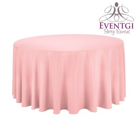 Pink Round Tablecloth Rentals