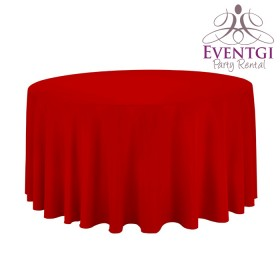 Red Round Tablecloth Rentals