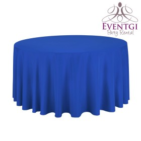 Royal Blue Round Tablecloth Rentals