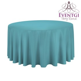 Turquoise Round Tablecloth Rentals
