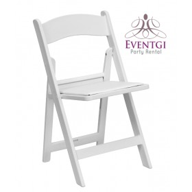 White Folding Chairs Rental